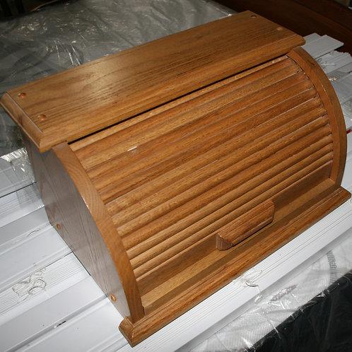 Oak Roll Top Bread Box