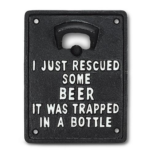 Rescued Beer Wall Opener