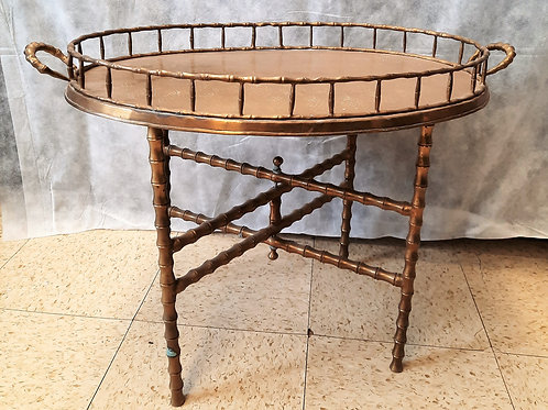 Pineapple Tray Table with Folding Legs