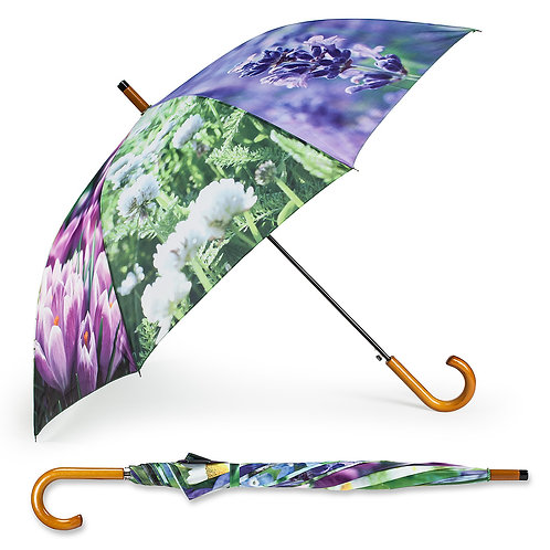 Multi Flower Stick Umbrella - 40""