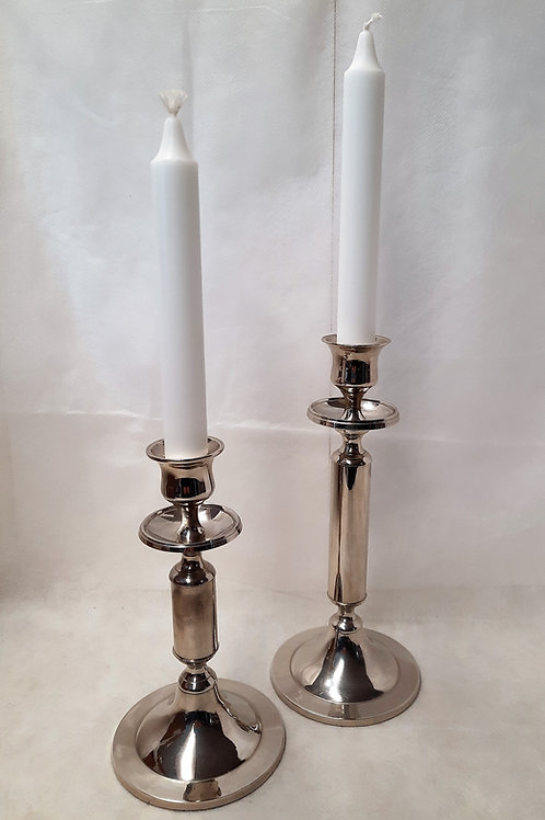 Setof 2 Silver Candle Sticks