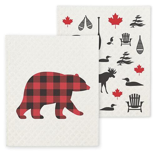 Bear & Icon Dishcothes - Set of 2