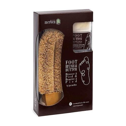 Merben Coconut Foot Brush with Butter