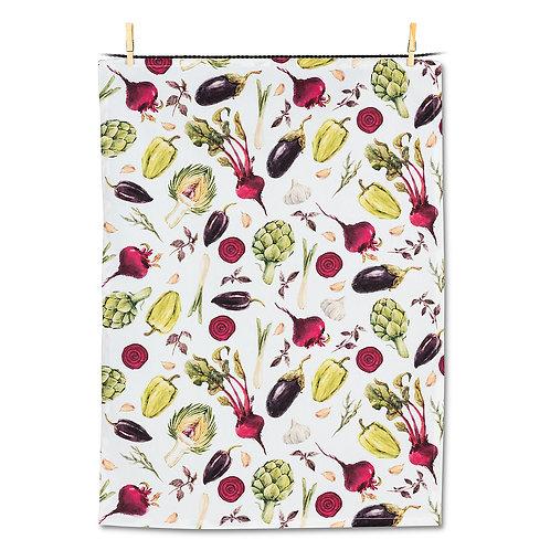 Allover Veggie Tea Towel