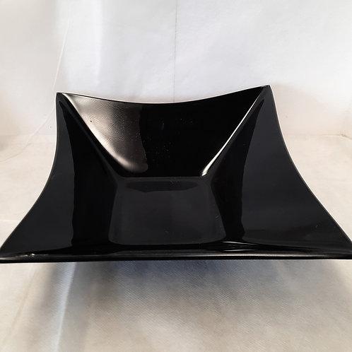 Black Glass Serving Bowl