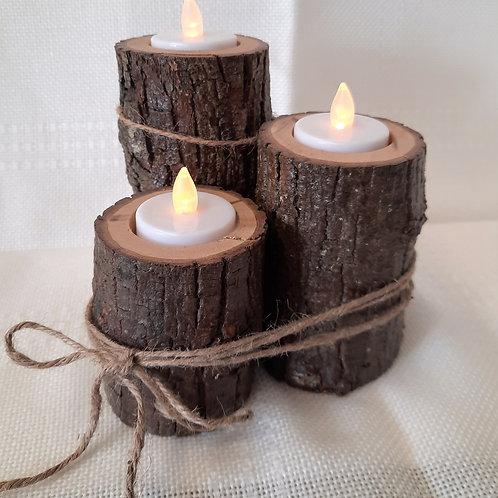 Set of 3 Branch Tea Light Holders