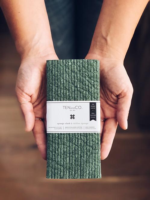 Ten & Co. Evergreen Solid Sponge Cloth - 2 Pack