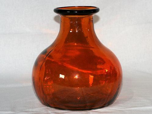 "Orange Glass Vase 8.5"" High"