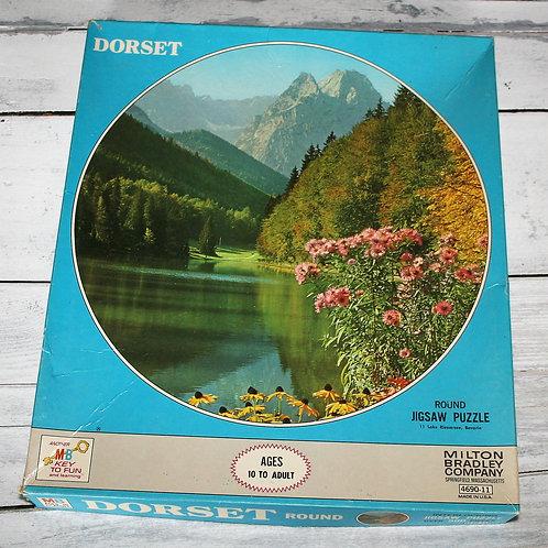 Bavarian Mountain Scene Round Puzzle