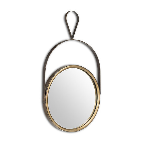 Round Mirror with Loop