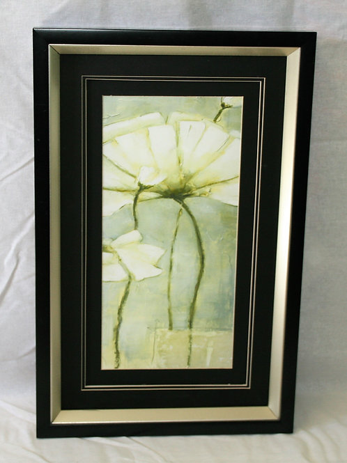 Black Frame with Large White Orchid