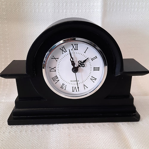 Small Black Mantel Clock