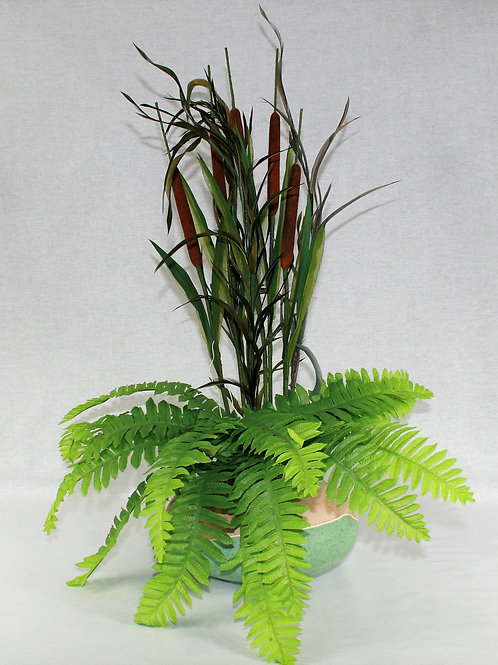 Large Arrangement with Bull Rushes