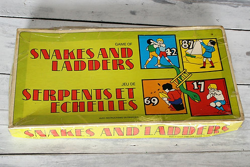 Vintage Copp Clark Snakes and Ladders Game