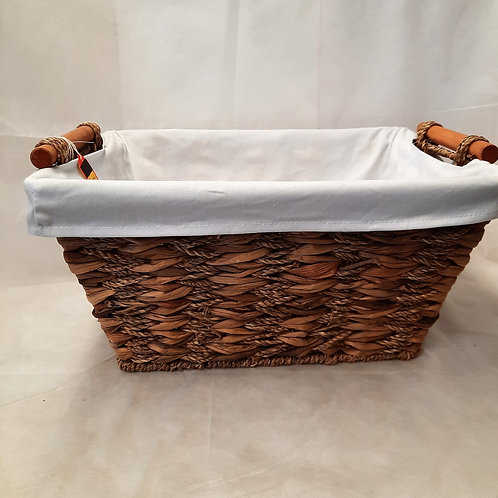Large Basket with White Lining