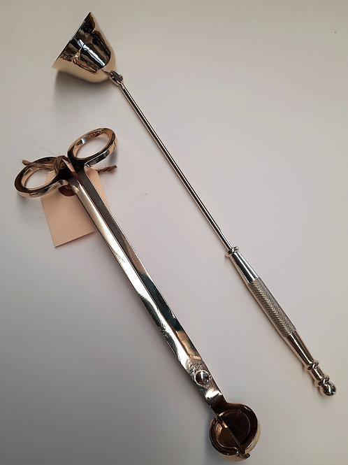 Candle Snuffer/Wick Trimmer Set Gold