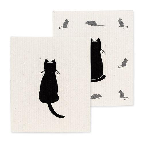 Cat Swedish Dishcloths - Set of 2