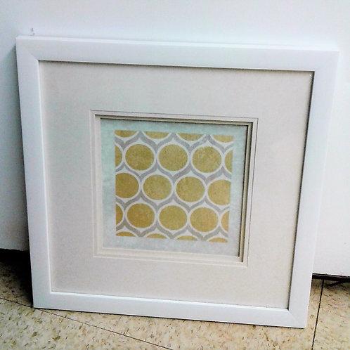 White Frame - Yellow & Grey Circles
