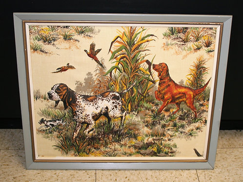 Hunting Dog Needlepoint with 3D Look