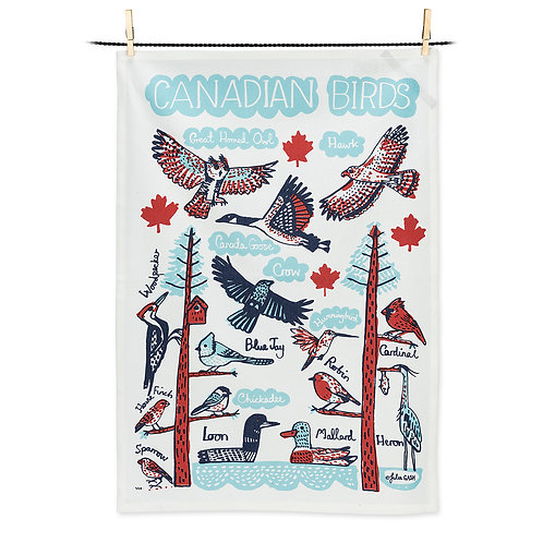 Canadian Birds Tea Towel