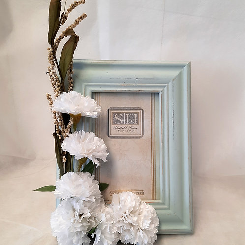 Picture Frame with White Flowers