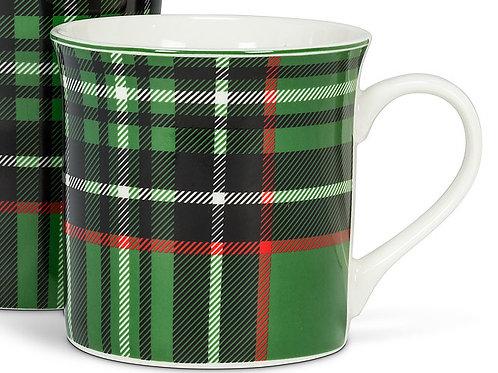 Green & Black Plaid Mug