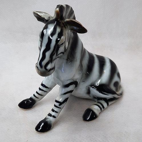 Glass Zebra Figurine