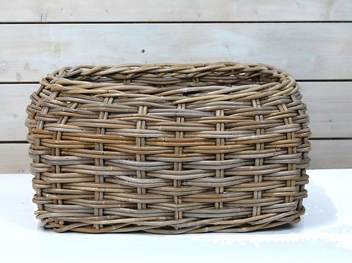 Grey Rattan Basket -Small