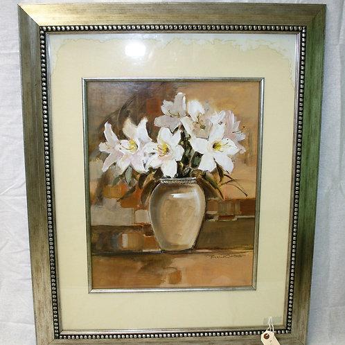 Floral Vase with Silver Frame