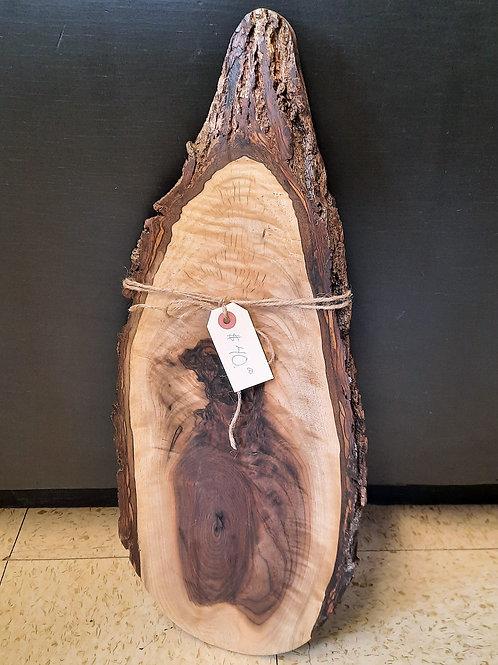 Curved Walnut Charcuterie Board