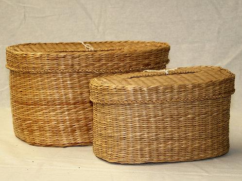 Wicker Storage Baskets - Set of 2