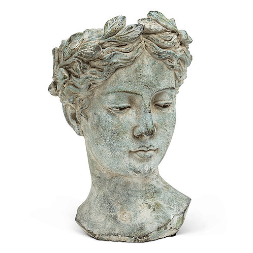 Large Goddess Woman Head Planter