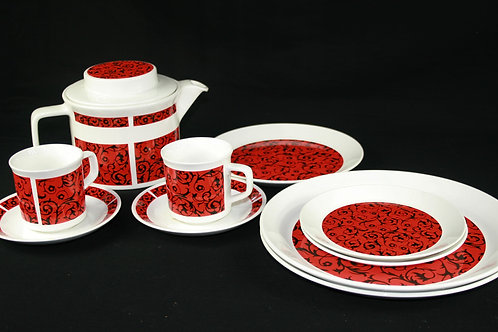 Johnson Bros. Snowhite Tea Set and Plates