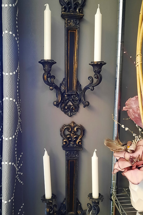 Pair of Candle Wall Sconces