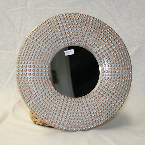 Small Mirror with Dotted Frame