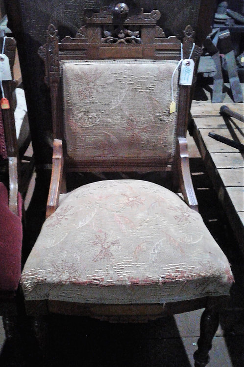 Antique Chair with Unique Wood Carving