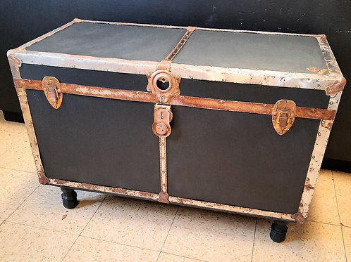 Old Steamer Trunk - with Legs