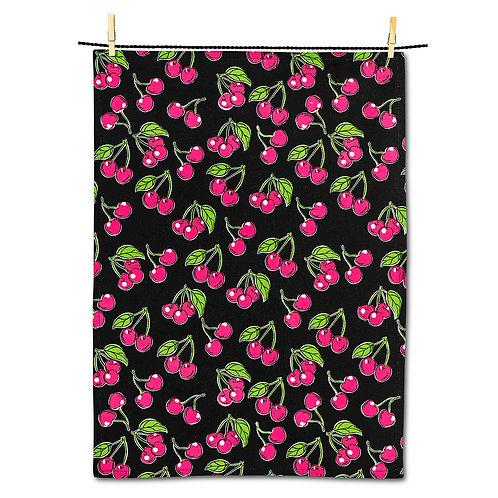 Bold Cherries Tea Towel