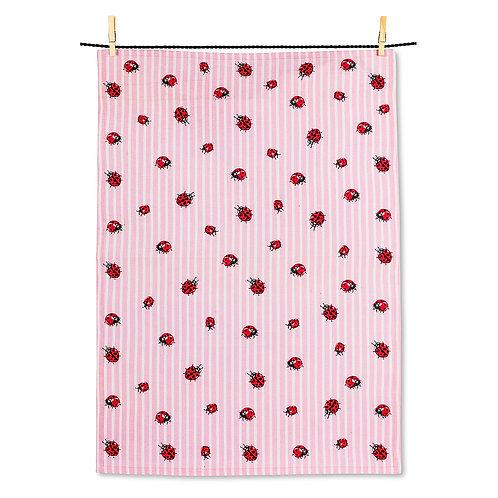 Ladybug/Stripes Tea Towel