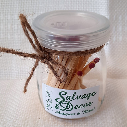 Small Jar with Matches
