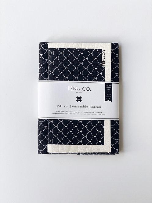 Ten & Co. Gift Set - Scallop Black