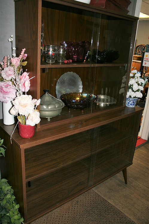 Mid-Century China Cabinet with Glass Doors