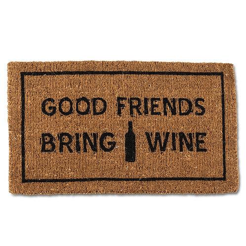 Friends & Wine Doormat