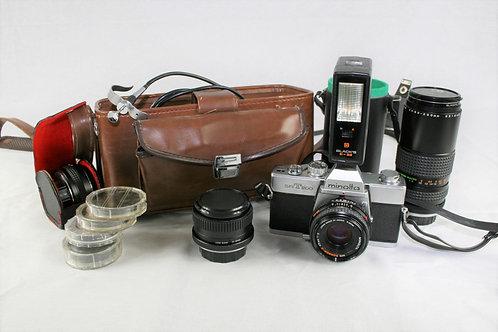 Minolta SRT200 Camera w/zoom Lens, Flash & More!