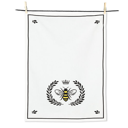 Bee In Crest Tea Towel
