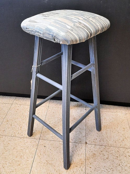 Painted Stool - Gray