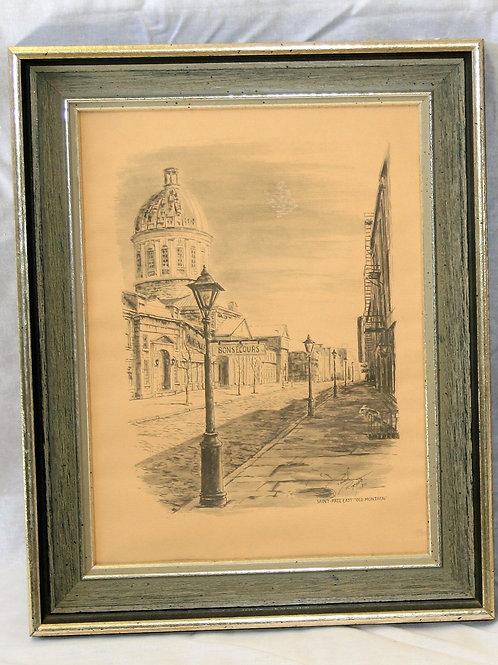 Pencil Drawing - Street
