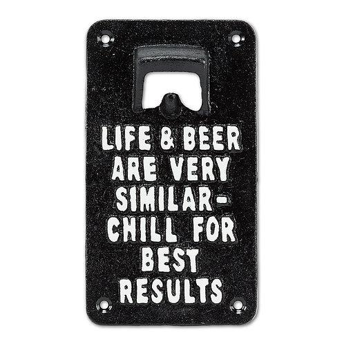Life & Beer Wall Opener