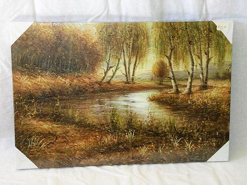River Scene Print on Canvas