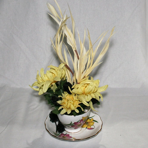 Teacup with Yellow Flowers